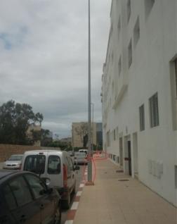 出口以色列路灯杆